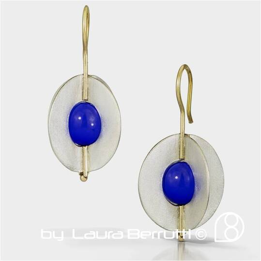 dangle princess modern square earrings minimalistic texture dome cross modern laura berrutti oregon portland uruguay joyeria argentina blue quartz architectural